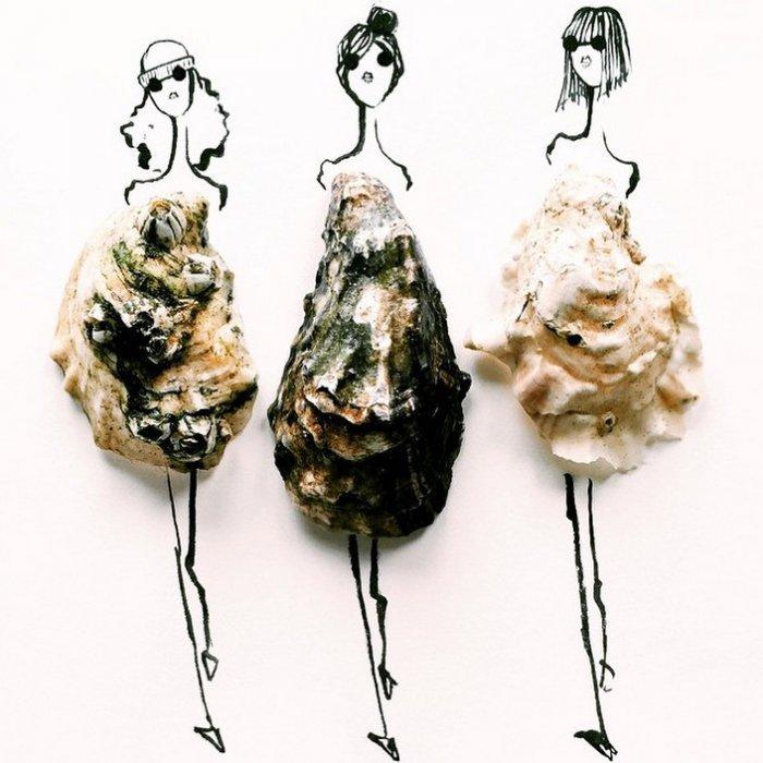 طراحی لباس,مدلینگ لباس,ترکیب نقاشی و وسایل,سبزیجات در طراحی لباس,مد لباس با سبزیجات,عکس های خاص,نقاشی های ترکیبی با مواد,نقاشی های باحال,نقاشی لباس,طراحی نقاشی لباس,نقاشی لباس مجلسی