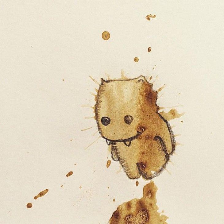 ایده لکه های قهوه، ر جالب، لکه های قهوه، لکه های قهوه باحال، لکه های قهوه بامزه ها، لکه های قهوه خلاقاناه، لکه های قهوه خلق، لکه های قهوه دیدنی، لکه های قهوه هیولا